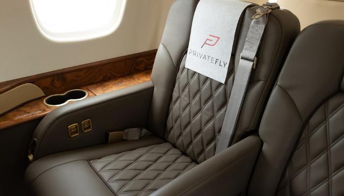 siège jet privé - PrivateFly