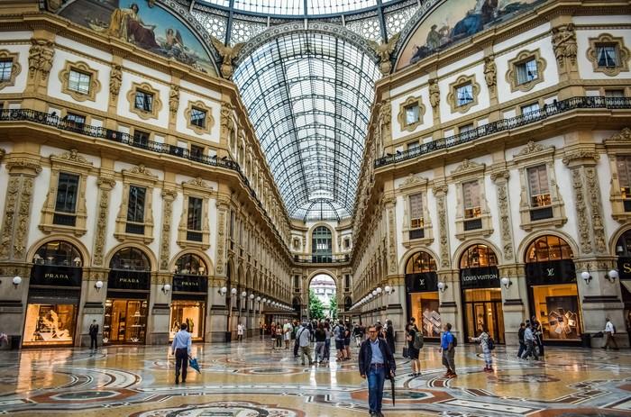 shopping à Milan