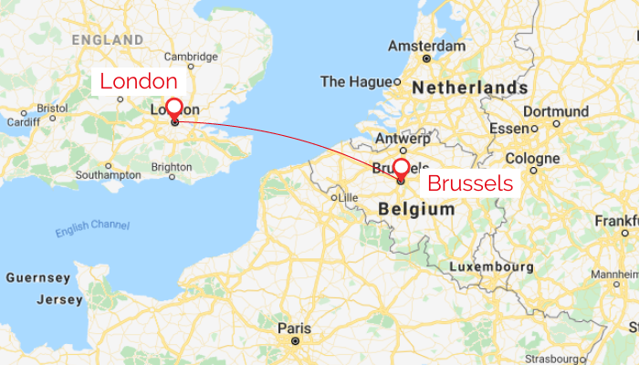 London to Brussels