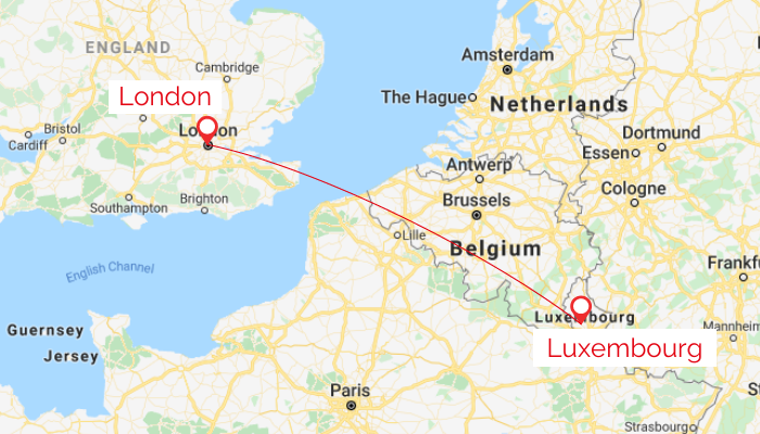 London to Luxembourg