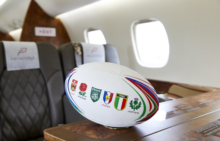 Six Nations Rugby by private jet - Legacy 600