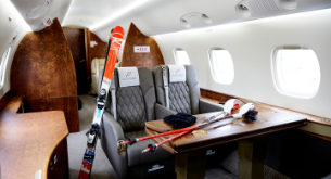 Ski resorts by private jet