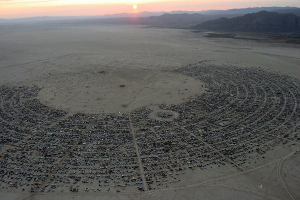 Flying into Burning Man
