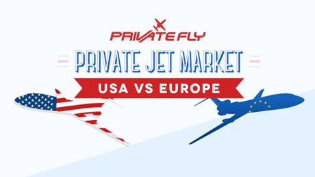 Private jet market comparison: USA vs Europe