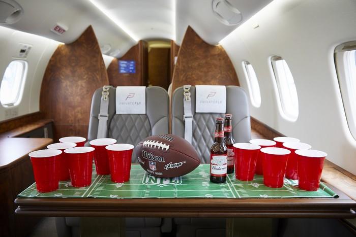 Jets privés vers le Super Bowl